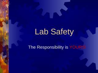 lab safety presentation.ppt