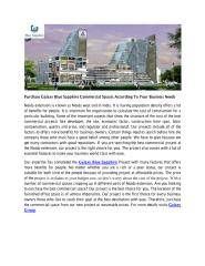 Purchase Galaxy Blue Sapphire Commercial Spaces According To Your Business Needs.PDF