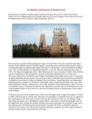 An ultimate train journey to Rameswaram.pdf