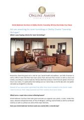 Amish Bedroom Furniture in Shelby Charter Township, MI Area that Helps Your Sleep.pdf