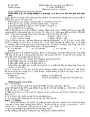 DE THI HOC SINH GIOI VAT LY 8.doc