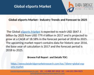 Global eSports Market– Industry Trends and Forecast to 2025.pptx