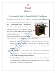 Some-Amazing-Tips-To-Choose-The-Right-Transformer.pdf