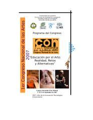 PROGRAMA MEMORIAS CONGRESO ARTES 2007.doc