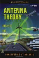 Antenna Theory - Analysis and Design, Third Edition.pdf