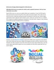 SEO Services Package Ideally Designed for Online Business.pdf