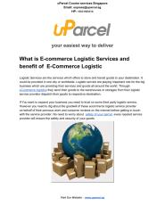 Whatis E-commerce Logistic Services and benefit of E-Commerce Logistic.pdf