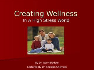Creating Wellness In A High Stress World.ppt