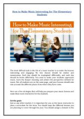 How to Make Music Interesting for The Elementary Students.pdf