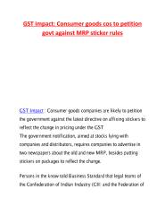 GST impact - Consumer goods cos to petition govt against MRP sticker rules.pdf
