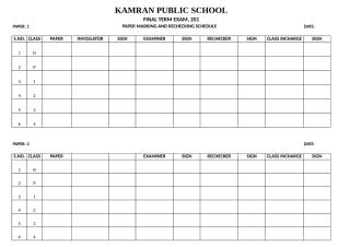 paper rechecking and marking schedule 2012.xls