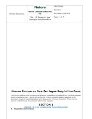 Human Resources New Employee Requisition Form.doc