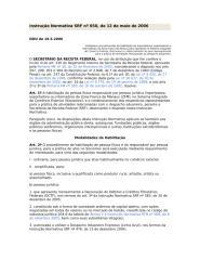 RADAR -- Instrução Normativa SRF nº 650, de 12 de maio de 2006.doc