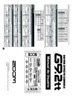 Manual ZOOM G9.2tt Português